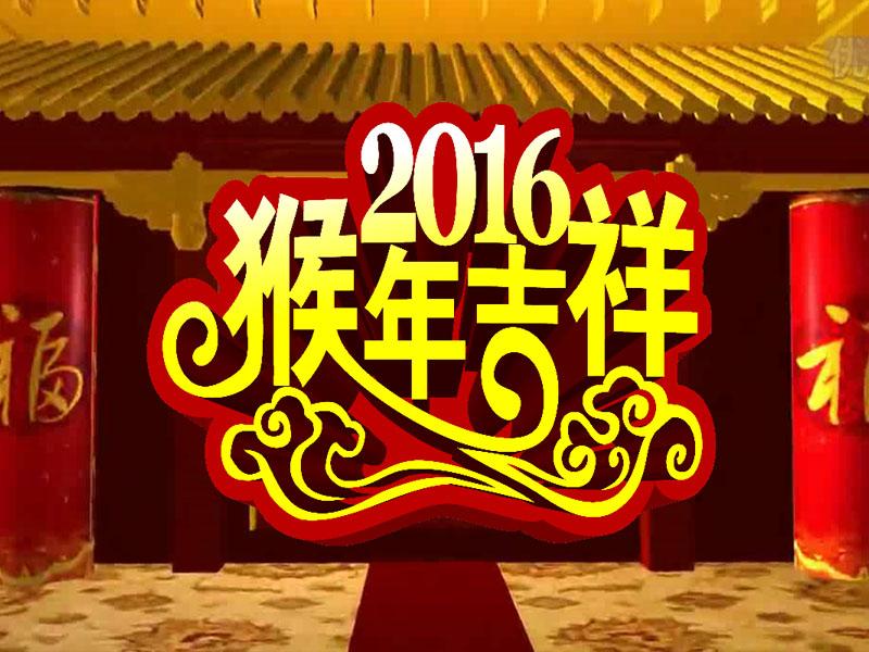 2016年贺新年明星祝福-会声会影区-会声会影模板-我