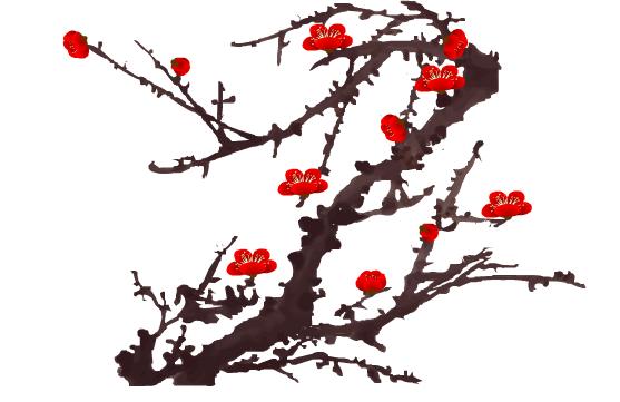 梅花水彩画法步骤图