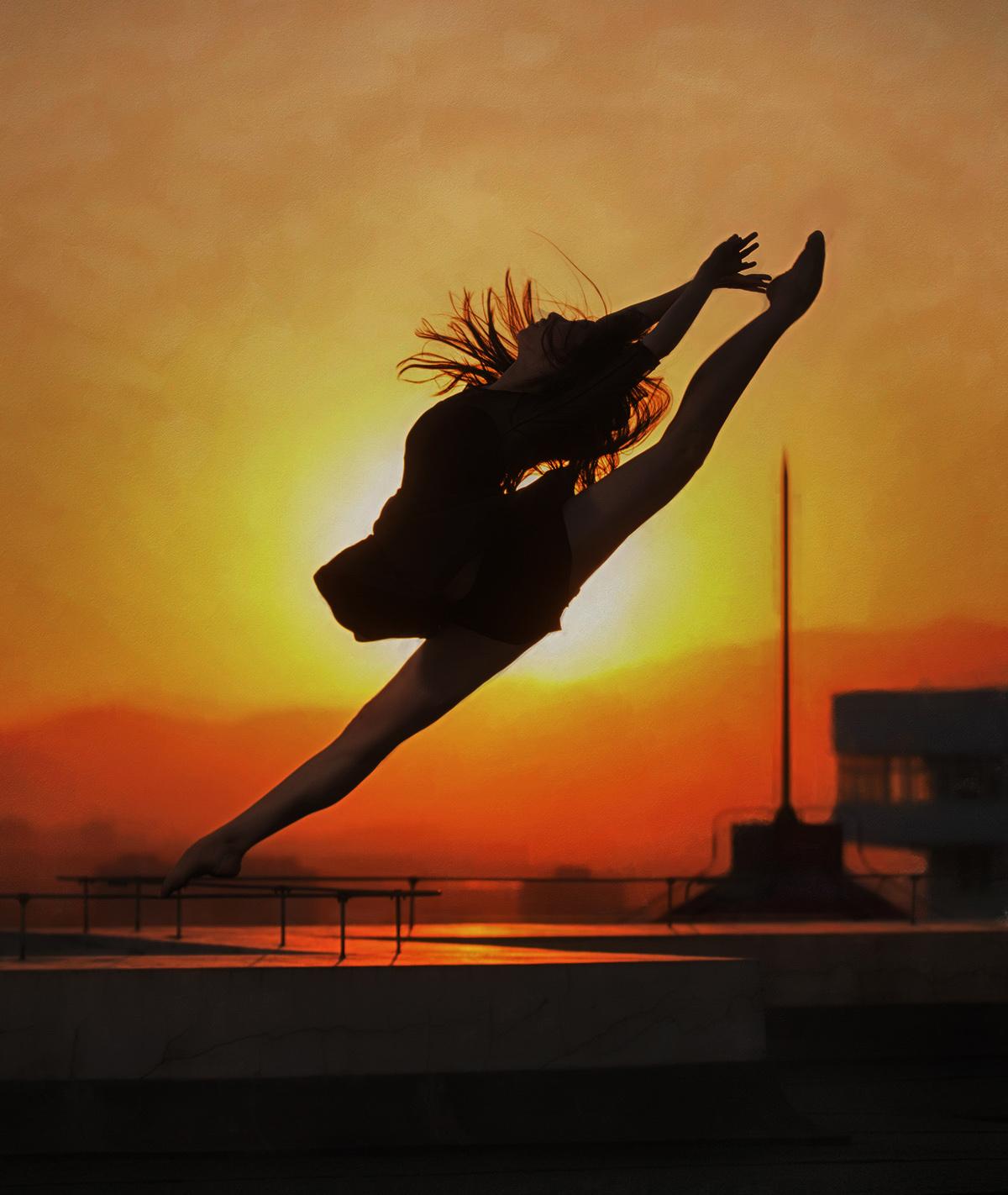 美图送好友(2)夕阳下的舞者浪漫,我学会声会影